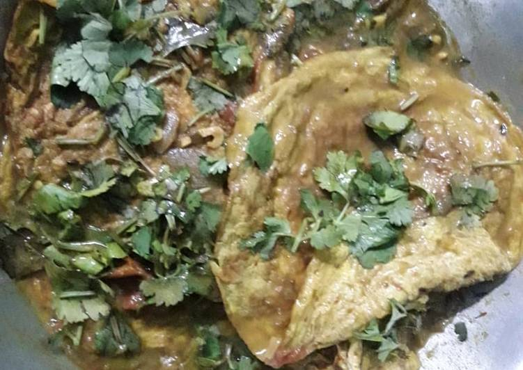 Omlette curry