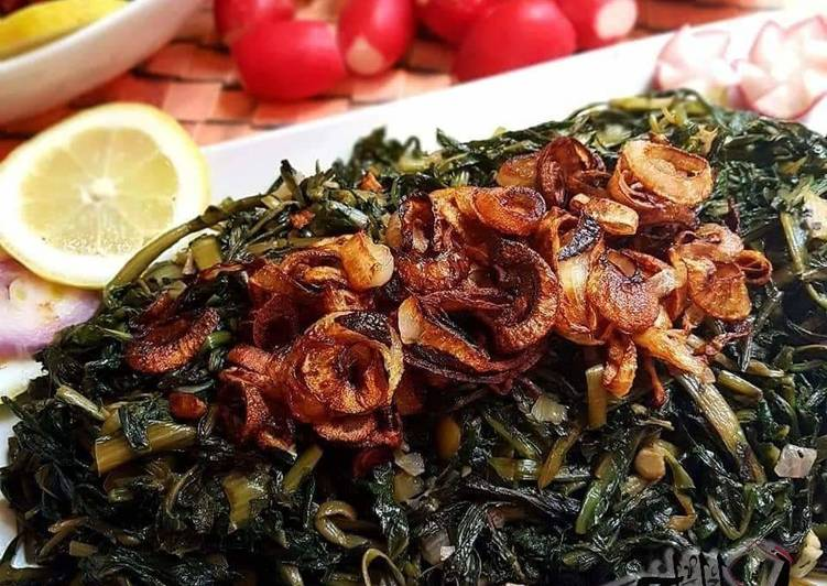 Recipe of Super Quick Homemade Dandelion_greens_with_oil