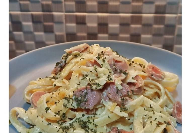 Resep Fettucini Carbonara (Bahan Simple) oleh Suistia Rahma - Cookpad