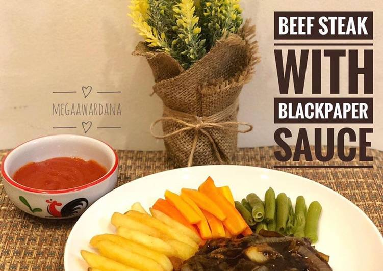 BEEF STEAK WITH BLACKPAPER SAUSE🥩