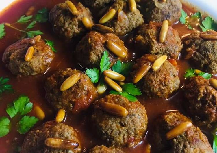 Lebanese_meat_balls_in_tomato_sauce #Dawood_Basha