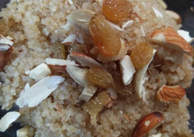 Fada Lapsi (beaten wheat/daliya sweet)