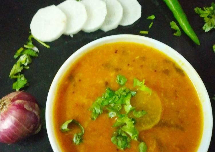 Recipe of Favorite Mullangi sambar