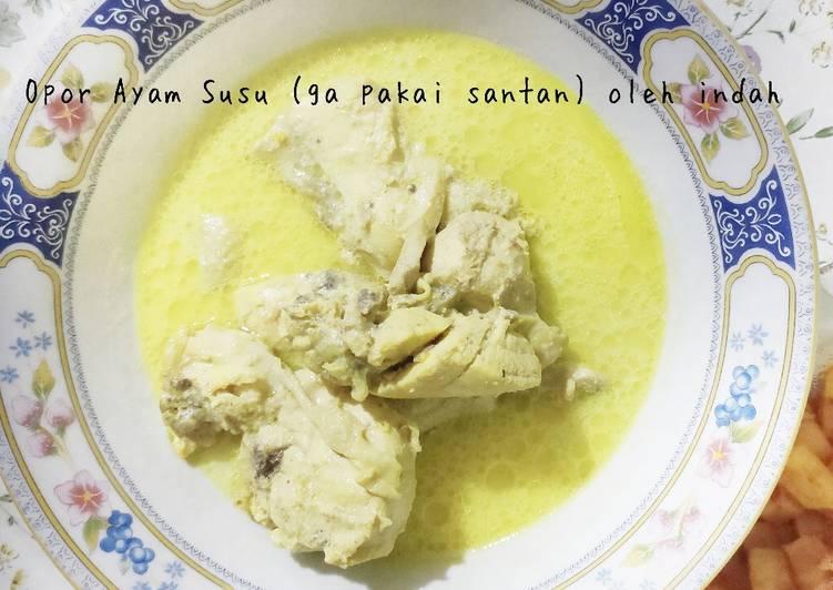 Opor Ayam susu UHT nan Gurih