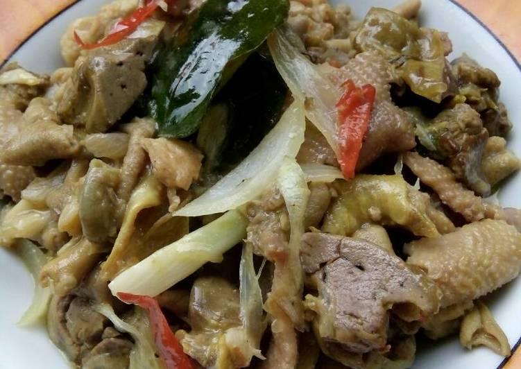 Gongso Kulit & Jerohan Ayam #dietKF