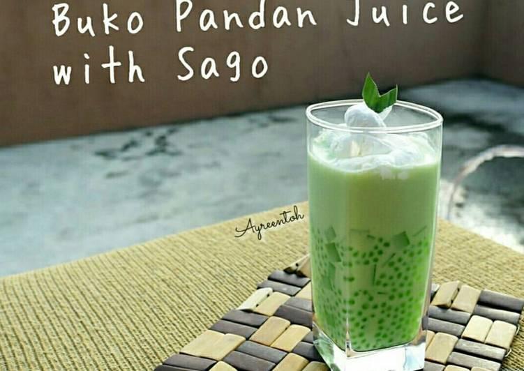 Resep Buko Pandan Juice with Sago farah quinn