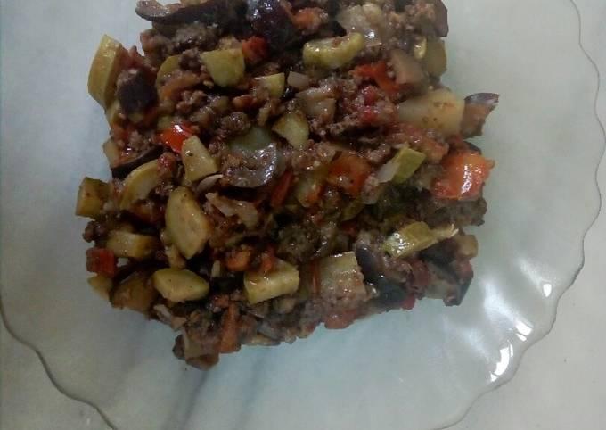 Musaqaea(veggies and meat)