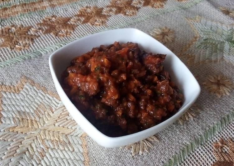 Salsa bolognesa con carne de soya