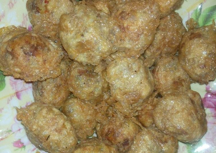 Potato and meat balls
