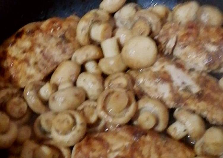 The Best Way to Make Yummy Glazed Chicken with Mushroom