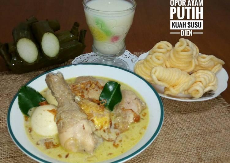 Resep Opor Ayam Putih Kuah Santan Susu yang Sempurna