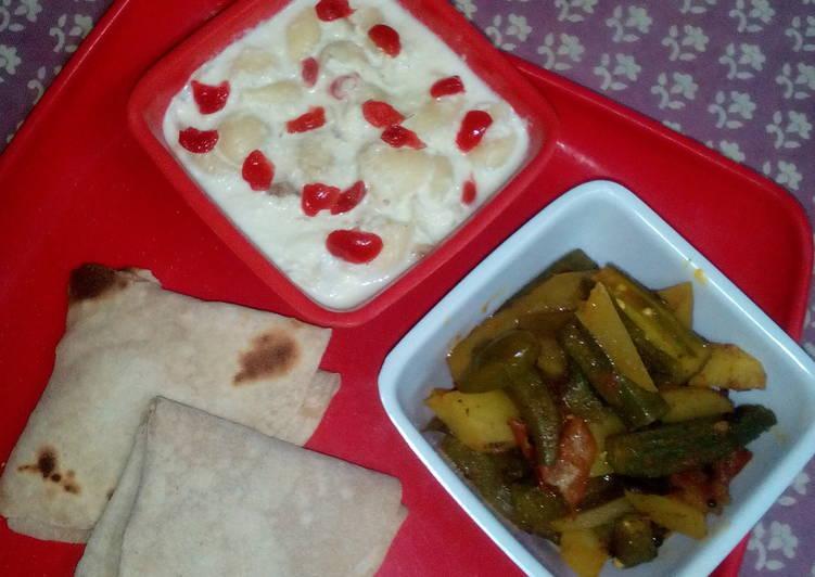 Recipe of Ultimate Amchur methi okra with pasta chisel kheer