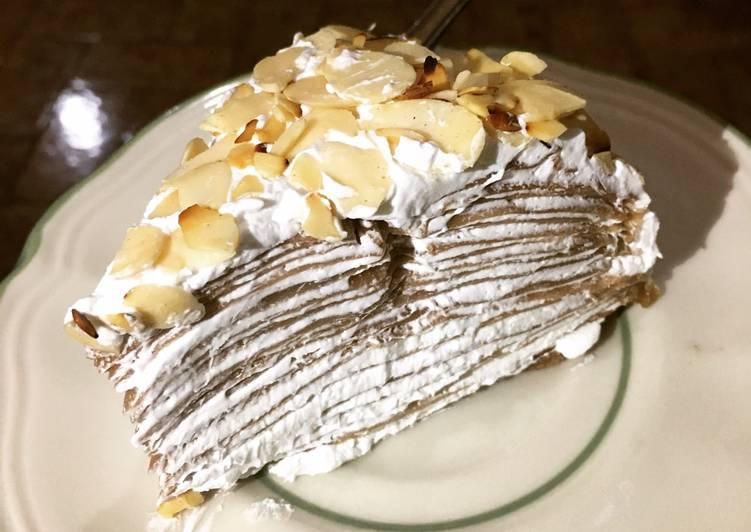 Mille Crepes Coklat Almonds