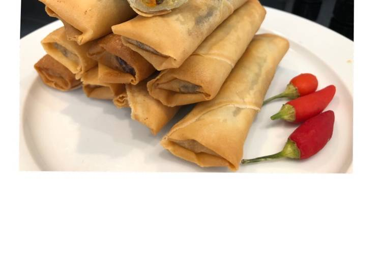 Recipe: Tasty Vegetable spring rolls