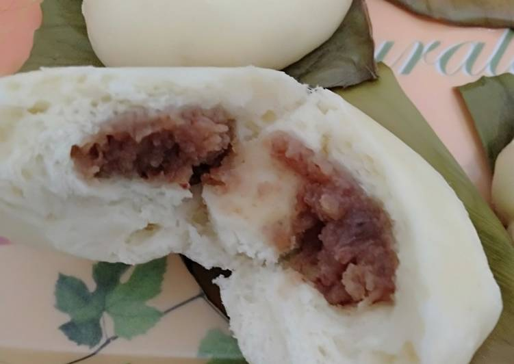 Bakpau / Bapau / Pao isi Kacang Merah (Takaran Sendok)