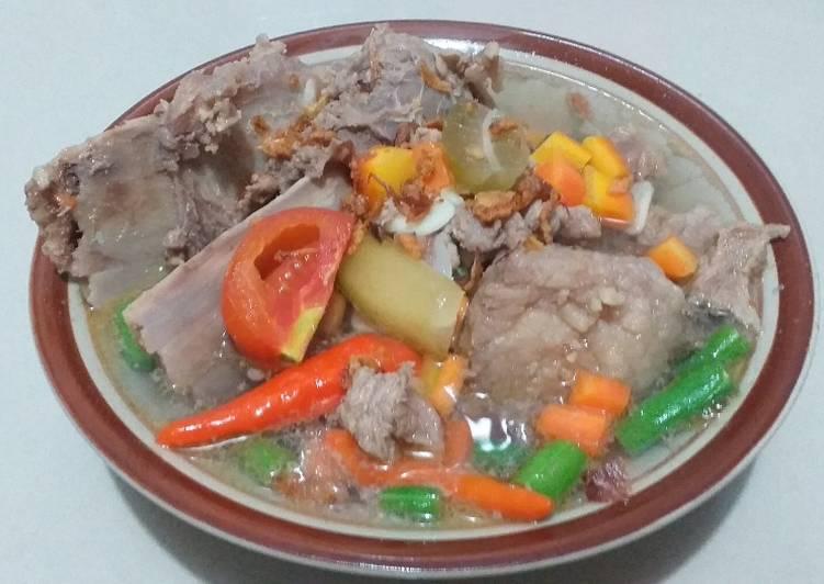 43. Asem Asem Daging dan Tulang Sapi