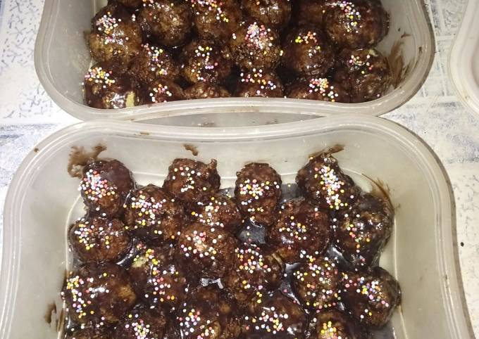 Resep bola coklat biskuit