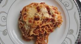 Hình ảnh món Cheese baked bolognese spaghetti