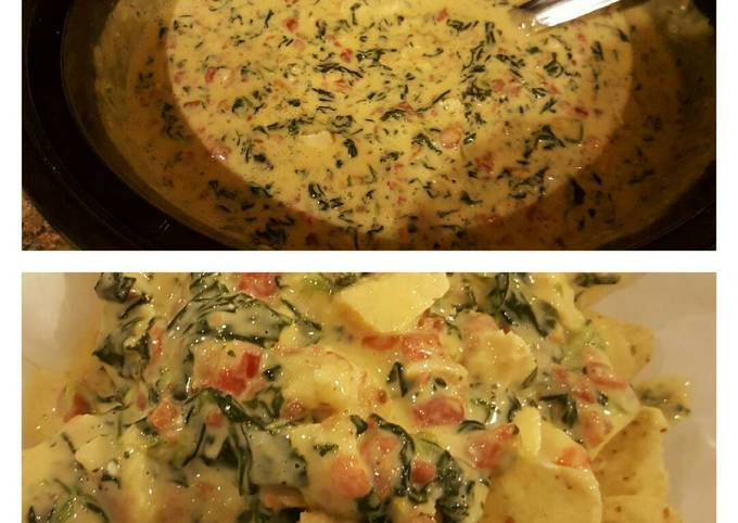 Cheesy Spinach Bacon Grilled Chicken Dip