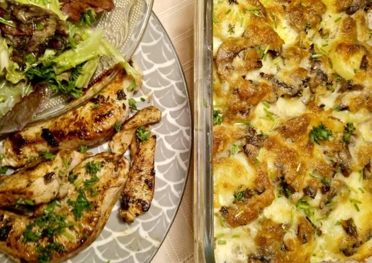 Champignon-Kartoffel-Gratin