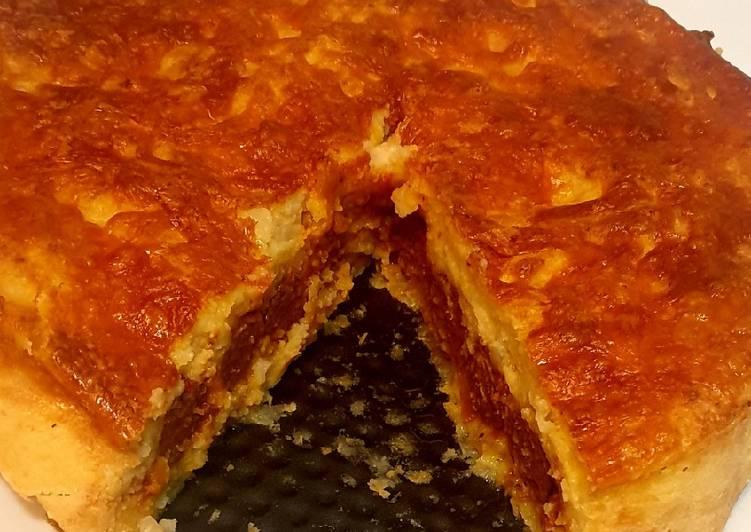 Easiest Way to Make Homemade Cheesy Potato and Sausage Pie