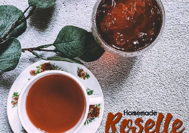 Sirap bunga roselle pekat (untuk jus/tea) - resepipouler.com