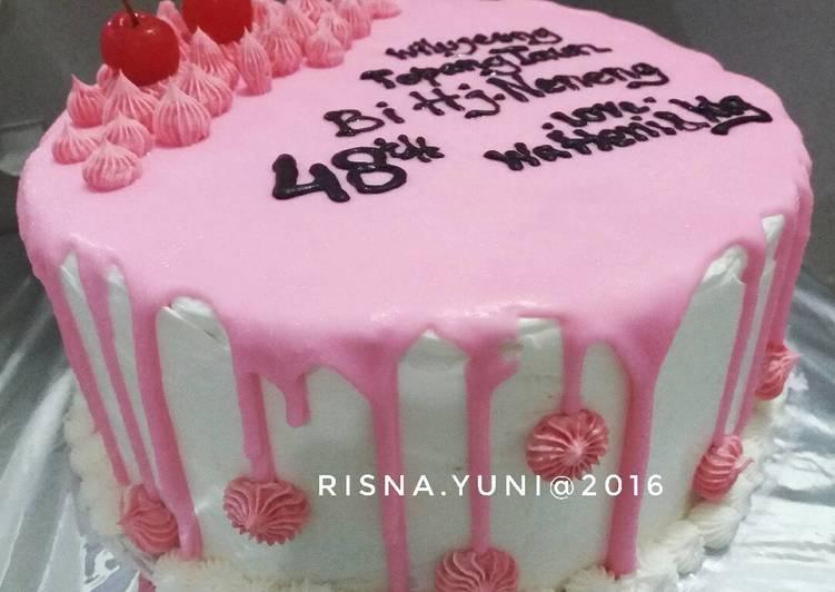Birthday Cake Pinky Ganache