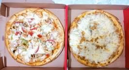 Hình ảnh món Pizza hải sản & pizza bò băm