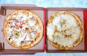 Pizza hải sản & pizza bò băm