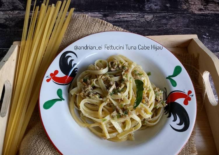 Fettucini Tuna Cabe Hijau #pr_pasta