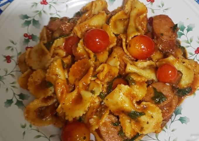 Italian sausage farfalle