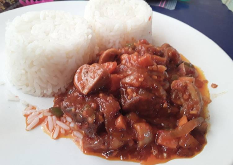 The Meals You Choose To Feed On Will Effect Your Health Beef and Mushrooms Stew paired with Plain Coconut Riceq
