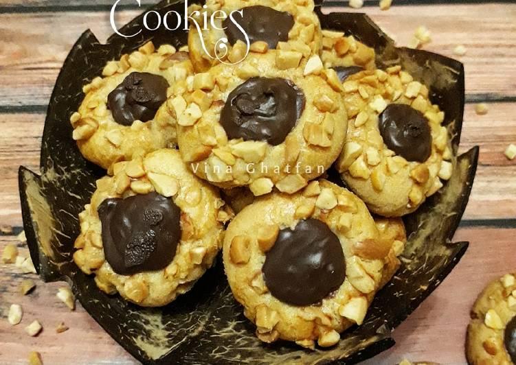 Peanut choco thumbprint cookies #pr_whynutkuker