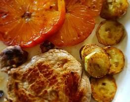 Solomillo de ternera a la plancha con tomate y calabacin