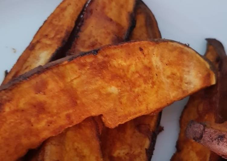 Recipe of Perfect Roasted sweet potato wedges