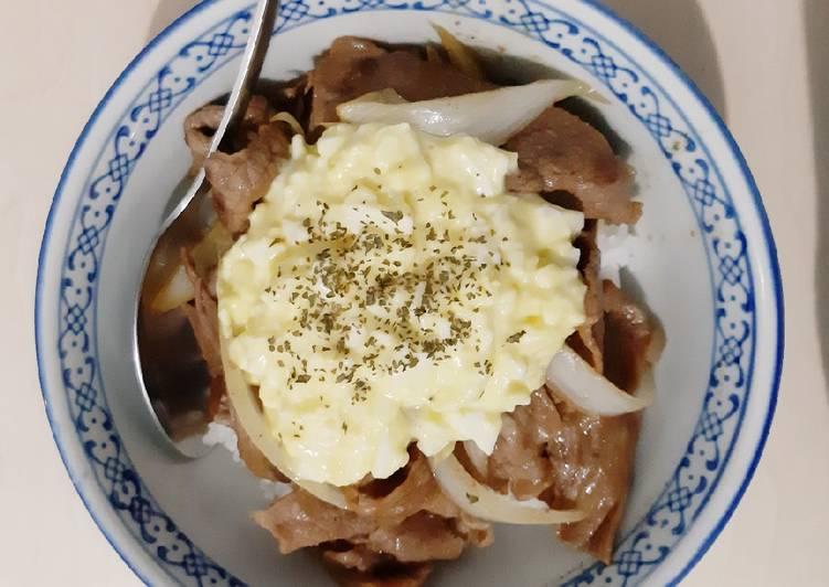 Beef Yakiniku Rice Bowl with Egg Mayo