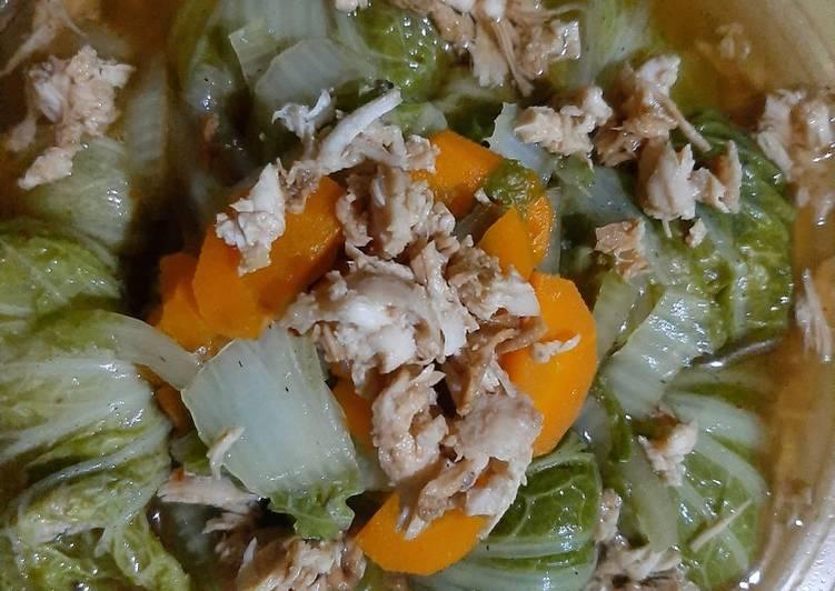 Resep Ayam Cincang Bungkus Sawi, Yummi Yang Mudah Enak