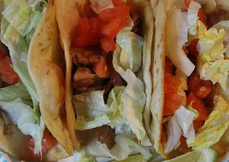 Recipe: Appetizing Twice Cooked Pork Roast Fried Tacos