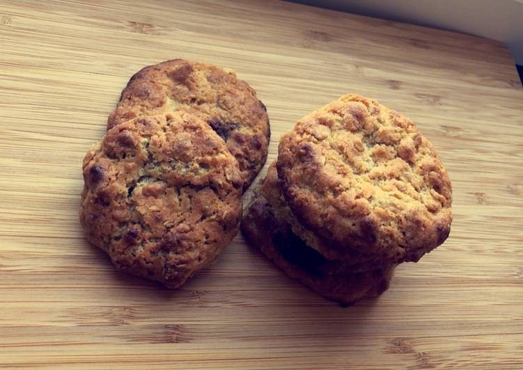 Cookies crunchy muesli chocolat