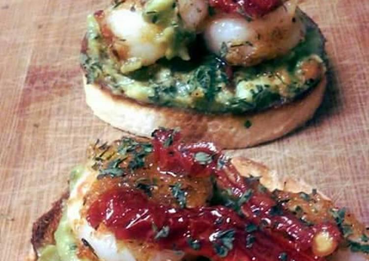 Fiesta lime Shrimp Crostinni