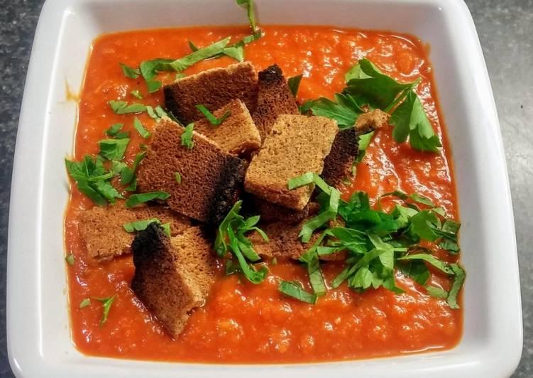 Recette: Parfait Soupe de tomates aux haricots blancs (vegan)