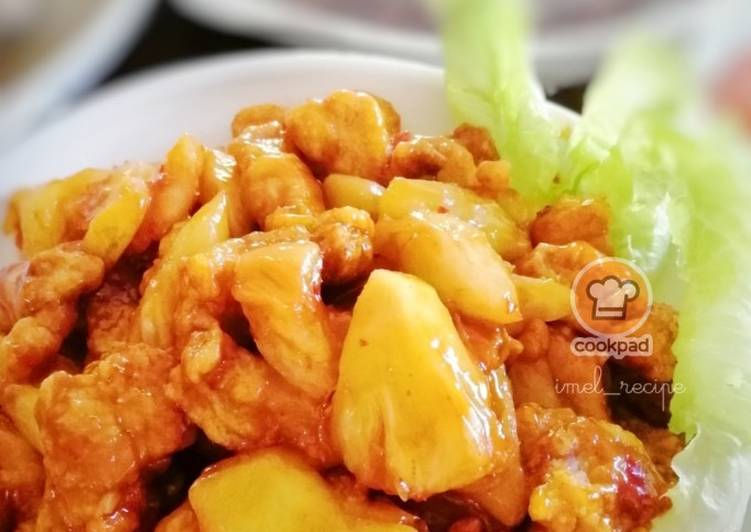 Sweet & Sour Pork with pineapple