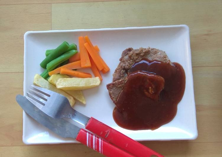 Beef Steak Brown Saus