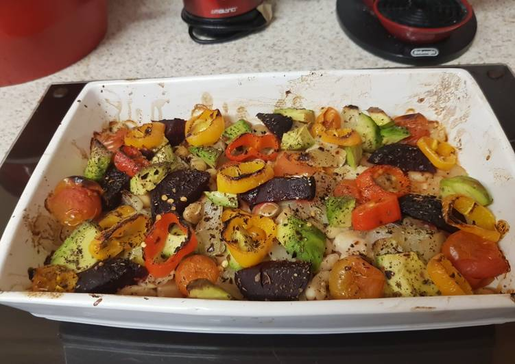 Step-by-Step Guide to Prepare Speedy My Mixed Bean and pepper Veggie Roast 😍