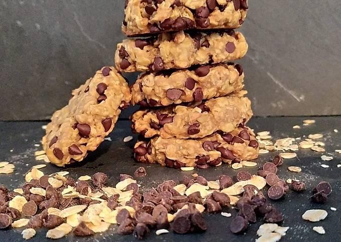 Cookies healthy aux flocons d'avoine et chocolat - IG bas