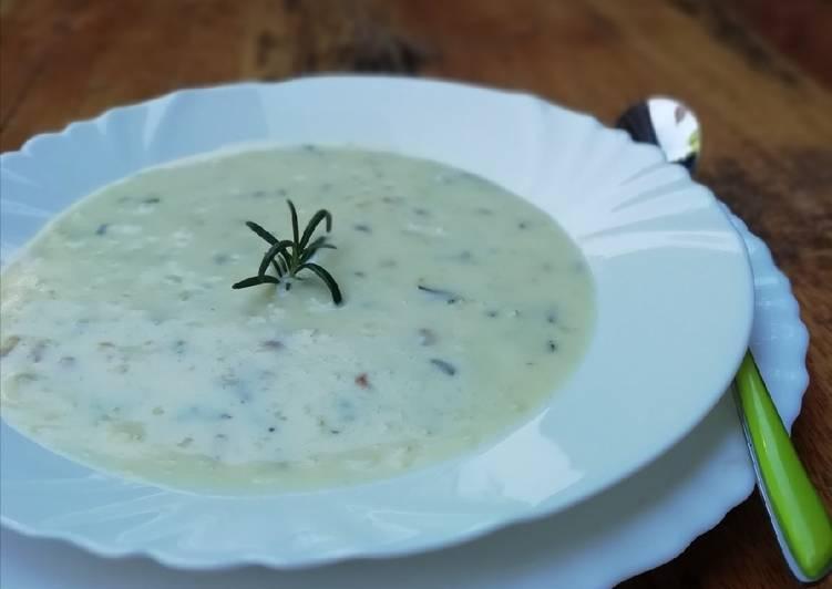 Recipe of Homemade Potato rosemary soup