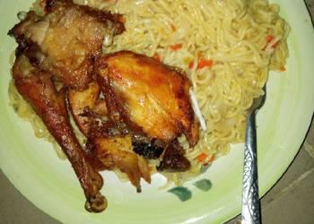 Easiest Way to Make Delicious Indomie en fried chiken