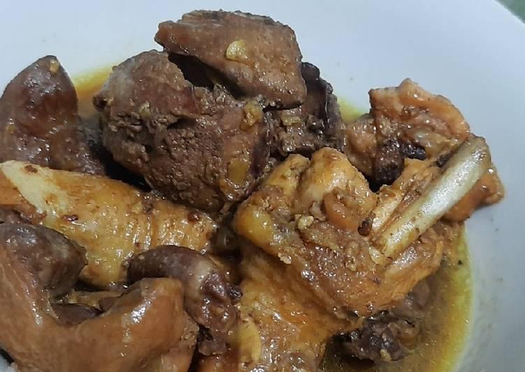 Semur daging & hati ampela ayam