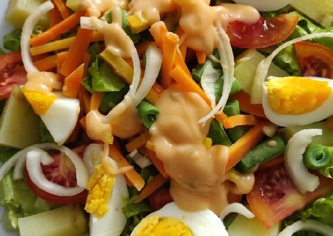 Resep Salad sayur Anti Gagal