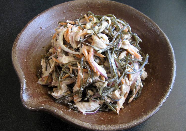 Step-by-Step Guide to Prepare Favorite Kombu & Tuna Wasabi Mayo Salad
